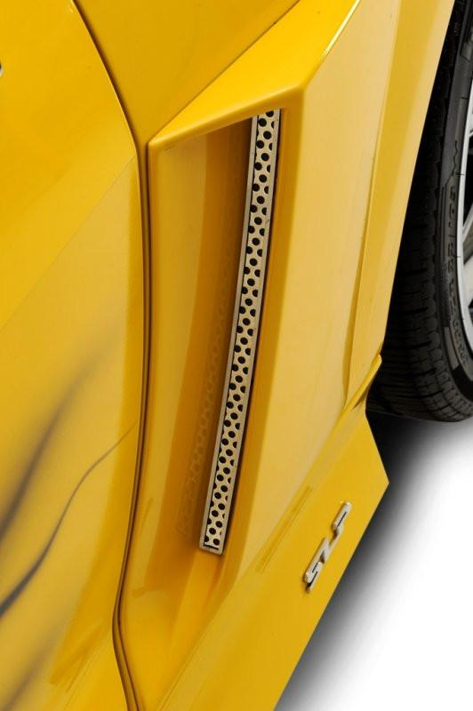 2010-2013 Camaro - Perforated Side Vent Grille Inserts 2Pc , Fits Xenon Scoops American Car Craft