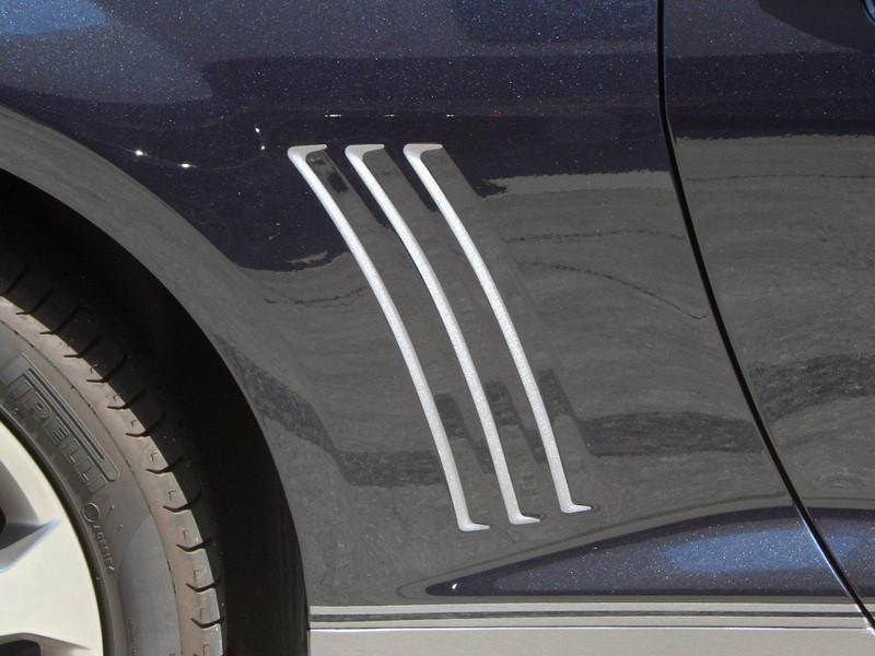 2010-2013 Camaro - Rear Side Fender Vent Grille Vinyl Inserts Brushed Stainless Look Vinyl Graphic American Car Craft