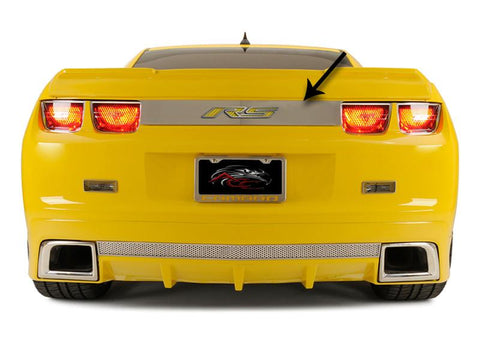 "2010-2013 Camaro - ""RS"" Trunk Lid Plate, Choose Vinyl Inlay Color"