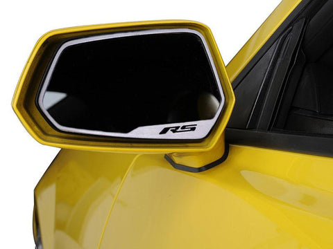 "2010-2013 Camaro - Side View Mirror Trim ""RS"" Style, Brushed 2Pc American Car Craft"
