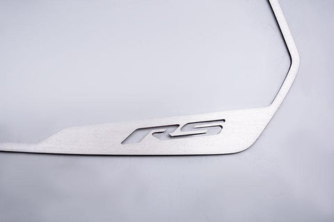 "2010-2013 Camaro - Side View Mirror Trim ""RS"" Style, Brushed 2Pc"