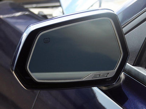 "2010-2013 Camaro - Side View Mirror Trim ""SS"" Style 2Pc, Brushed American Car Craft"