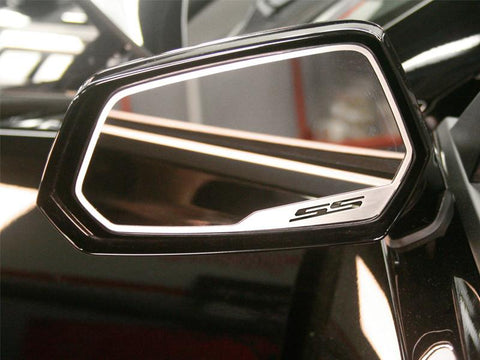 "2010-2013 Camaro - Side View Mirror Trim ""SS"" Style 2Pc, Brushed"