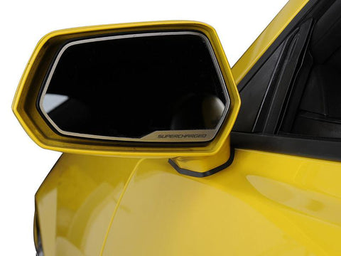 "2010-2013 Camaro - Side View Mirror Trim ""SUPERCHARGED"" Style 2Pc"