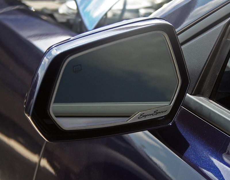 "2010-2013 Camaro - Side View Mirror Trim ""SuperSport"" Style, Brushed 2Pc American Car Craft"