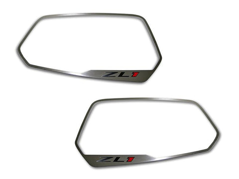 "2010-2013 Camaro - Side View Mirror Trim ""ZL1"" Style 2Pc, Brushed"