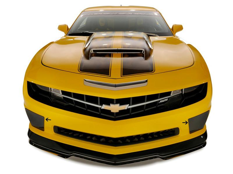 "2010-2013 Camaro SS - Fascia ""BB"" Style Smoked Lexan Fog Light Covers American Car Craft"
