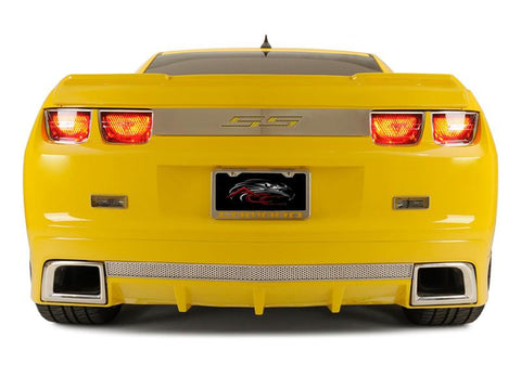 "2010-2013 Camaro - ""SS"" Trunk Lid Plate, Choose Vinyl Inlay Color"