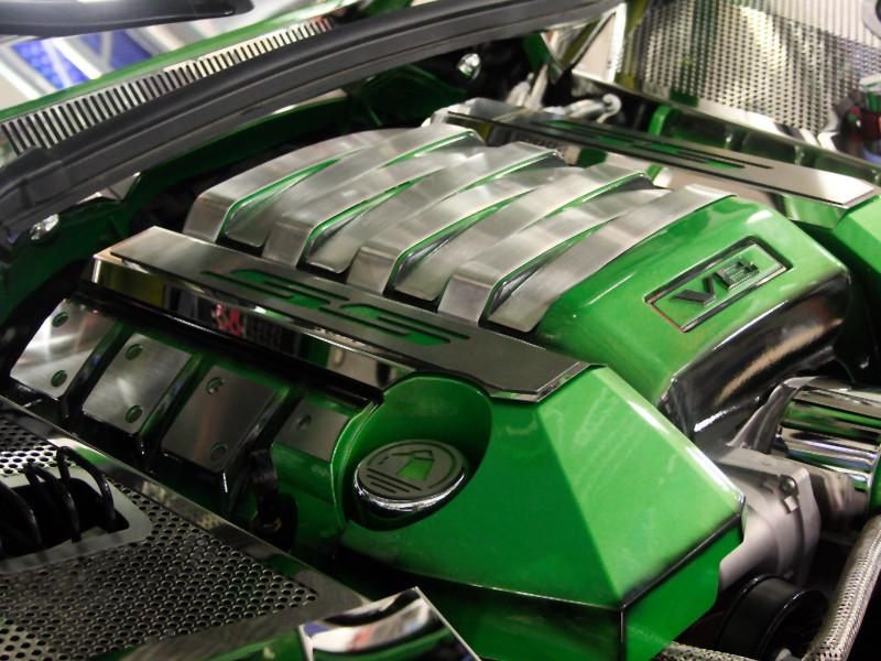 "2010-2013 Camaro - Synergy Green ""SS"" Fuel Rail Covers, Polished American Car Craft"