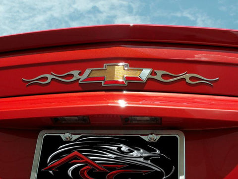 2010-2013 Camaro - Tribal Flame Rear Chevy Emblem Trim American Car Craft