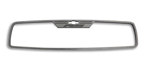 "2010-2014 Camaro - Rear View Mirror Trim ""RS"" Style Brushed 