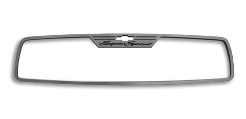 "2010-2014 Camaro Rear View Mirror Trim ""Super Sport"" Brushed"