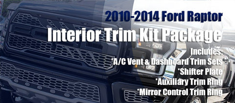 2010-2014 Ford F-150 Raptor Interior Trim Kit