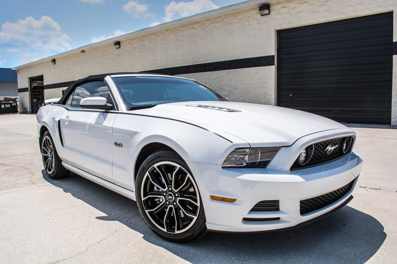 2010 - 2014 Ford Mustang Stripe Graphic Brushed Black American Car Craft
