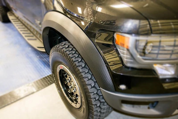 10 14 Ford Raptor Carbon Fiber Vinyl Fender Flare Wrap Kit