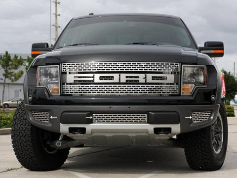 2010-2014 Ford Raptor - Lower Front Grille Brushed or Polished 3Pc American Car Craft