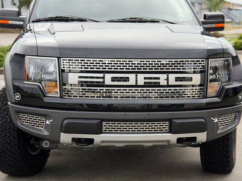 2010-2014 Ford Raptor - Lower Front Outer Grille | 2Pc Brushed or Polished