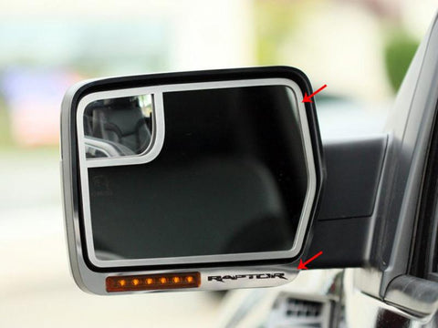 2010-2014 Ford Raptor Side View Mirror Trim Brushed 4Pc