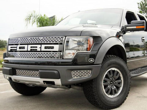 2010-2014 Ford Raptor - Upper Front Grille Brushed or Polished 2Pc American Car Craft