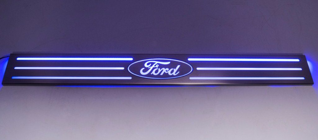 "2010-2014 Ford Raptor/F150 - Door Sills Illuminated ""Ford"" Oval Style 