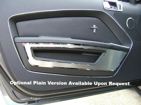 "2010-2014 Mustang - Brushed Door Guards with Polished ""5.0"" Lettering and Trim American Car Craft"
