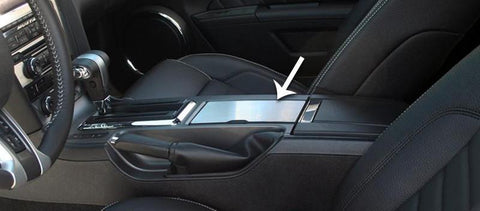 2010-2014 Ford Mustang - Center Console Cup Holder Cover | Brushed Stainless Steel