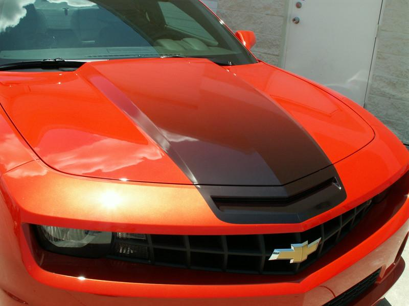 2010-2015 - Camaro Cowl Hood Black Fade Graphic American Car Craft