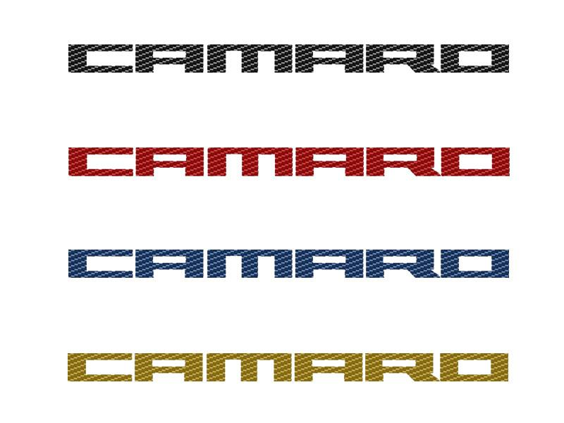 "2010-2015 Camaro - Door Panel Kick Plates Brushed ""CAMARO"" 2Pc American Car Craft"