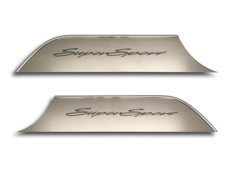 "2010-2015 Camaro Door Panel Kick Plates ""Super Sport"" Style 2Pc American Car Craft"