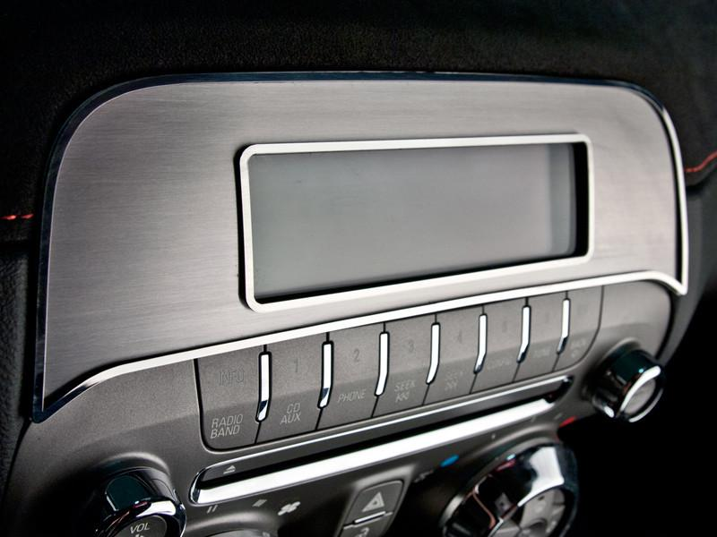 2010-2015 Camaro - Factory Radio Trim Plate, Brushed with Polished Bezel American Car Craft