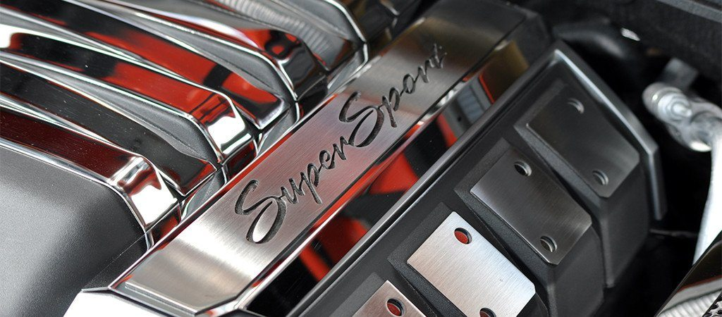 "2010-2015 Camaro Fuel Rail Covers Polished ""Super Sport"" American Car Craft"