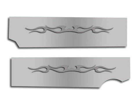 "2010-2015 Camaro Fuel Rail Covers Polished ""Tribal Flame"" American Car Craft"