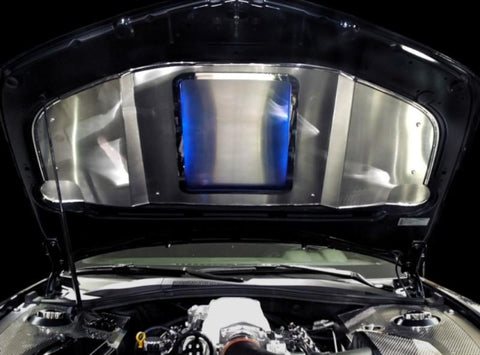 2010-2015 Camaro- Illuminated Stainless Hood Panel Supercharged | Choose Finish & LED Color