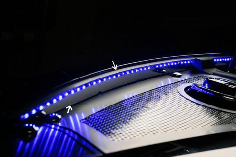 2010-2015 Camaro - Inner Fender Liner For Factory Hood w/LED Illumination | Stainless Steel