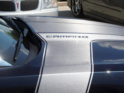 "2010-2015 Camaro - ""Jet Stream"" Faux Brushed Stainless Vinyl Graphic American Car Craft"