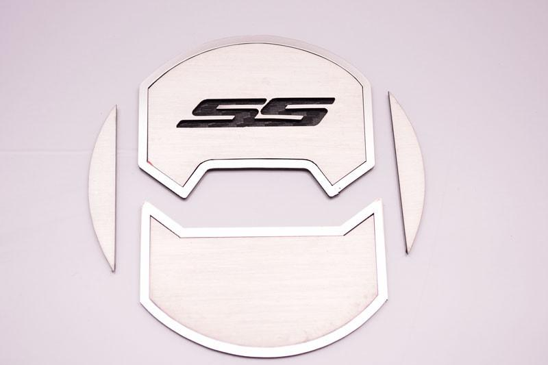 "2010-2015 Camaro - Round A/C Vent Duct Covers Deluxe ""SS"" 8Pc, Brushed American Car Craft"