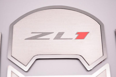 "2010-2015 Camaro - Round A/C Vent Duct Covers Deluxe ""ZL1"" 8Pc, Brushed"