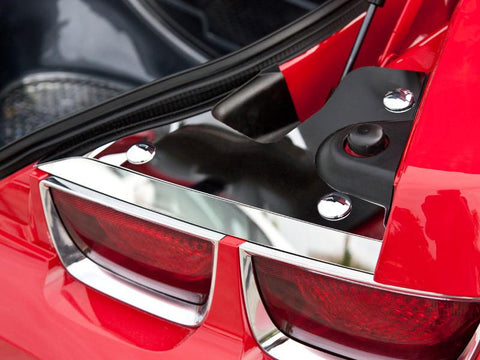 2010-2015 Camaro - Trunk Plates 4Pc w/Caps | Polished Stainless Steel