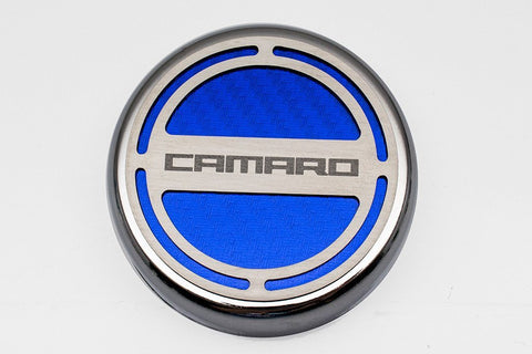 "2010-2015 Camaro V6/V8 - Cap Cover Set Carbon Fiber ""Camaro"" Series Automatic 5pc Carbon Fiber CHOOSE COLOR"