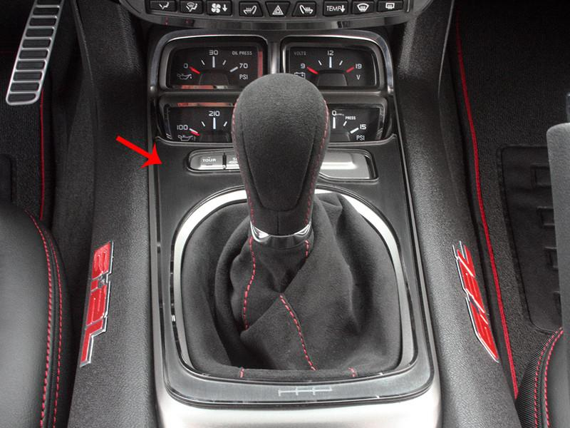 2010-2015 Camaro V8 - Shifter Plate Cover, Standard Equipped w/Gauge Cluster American Car Craft