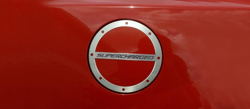 "2010-2018 Camaro Gas Cap Cover ""SUPERCHARGED"" Lettering 