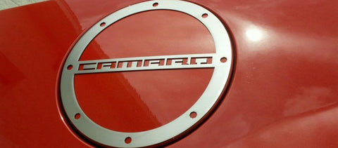 "2010-2018 Camaro- Gas Cap Cover With ""CAMARO"" Lettering American Car Craft"