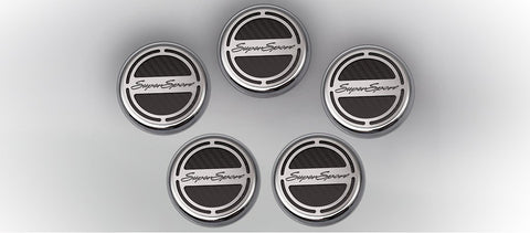 "2010-2018 Camaro V8 5pc Cap Cover Set ""Super Sport"" Style"