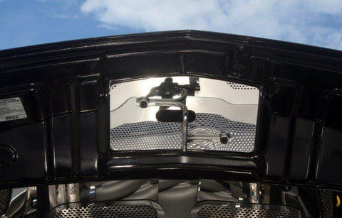 2010-2012 Mustang V8 & GT 5.0  - Upper Hood Cap | Polished Stainless Steel