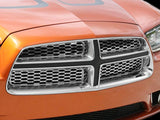 2011-2013 Dodge Charger - Upper Polished Stainless Front Grille Overlays 4Pc American Car Craft