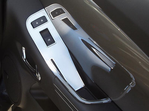 2011-2014 Convertible Camaro Door Handle Pull / Switch Deluxe Trim Plate 2Pc American Car Craft