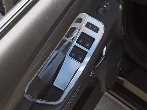2011-2014 Convertible Camaro Door Handle Pull / Switch Deluxe Trim Plate 2Pc