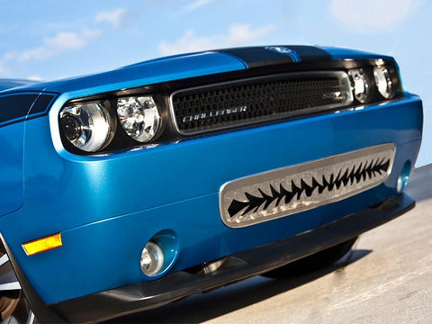"2011-2014 Dodge Challenger 5.7 and SRT 8 Polished Lower Front ""Shark Tooth"" Grille American Car Craft"