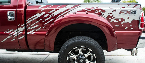 2011-2014 Ford F-250 - Side Splash Vinyl Two-Tone Truck Graphic American Car Craft