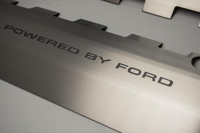 "2011-2017 Mustang GT 5.0 - ""Powered by Ford"" Etched Fuel Rail Covers American Car Craft"